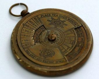 40 pcs 42 mm  Solid Brass Nautical Calendar Pendant Findings (Working)