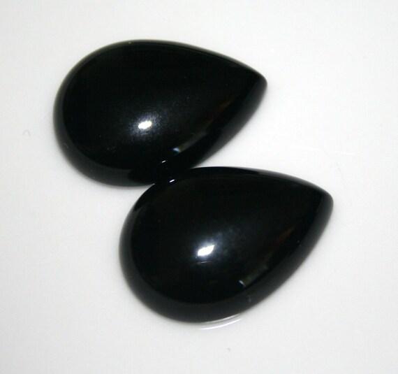 1 pc 18x25 mm Onyx Pear cabochon
