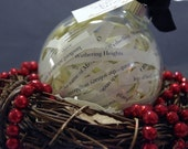 "Emily Bronte's ""Wuthering Heights"" ornament (4"")"