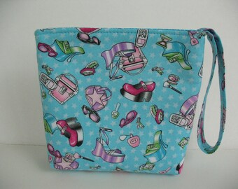 Wristlet, Teen Cosmetic Bag, Make Up Purse Organizer, Velcro Pouch Girl Accessories Novelty Cell Phone Bag Wristlet, CLEARANCE Gift under 10