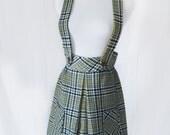 Vintage 1960s Sears Plaid Jumper Skirt - S/M