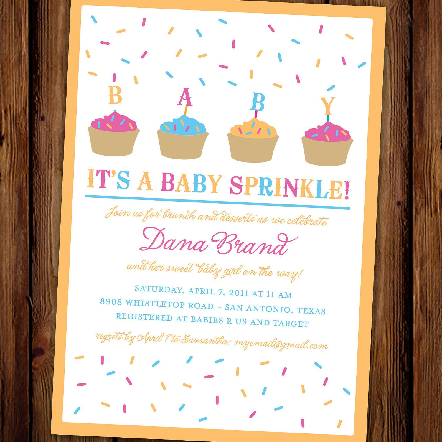 Baby Sprinkle Invite as beautiful invitations example