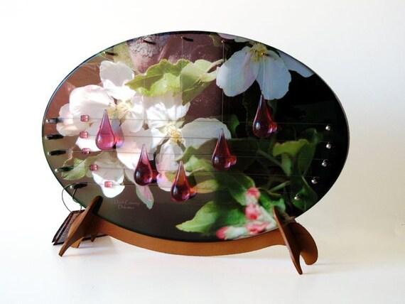 Apple Blossom Musical Door Harp - Door Decorations - Door Chime - Apple Blossoms