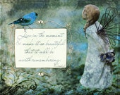 Beautiful Moment - Inspirational Art Print - wall decor turqoise teal angelic dreamy