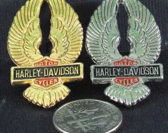 Harley Davidson Wings Pin  GOLD TONE