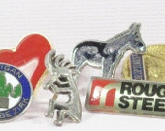 Pins - 1970s - 1989 Long List all with Backings