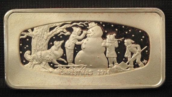 Silver Ingot-1974 Franklin Mint Christmas