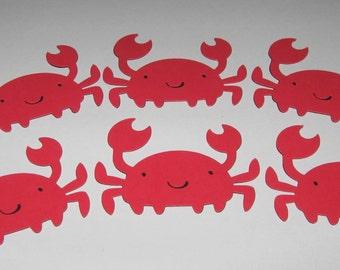 Under the Sea / Tropical Die Cut - Crab - Set of 6