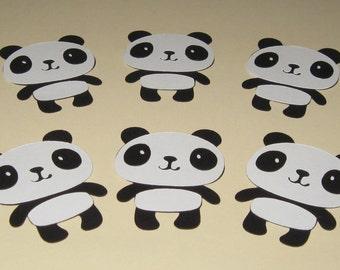 Panda Bear Die Cuts - Set of 6