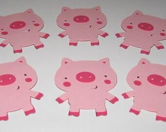 Country Farm / Barnyard Die Cuts - Pig - Set of 6