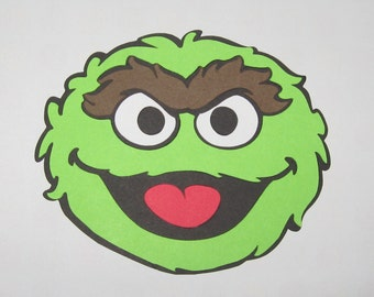 Sesame Street  Oscar the Grouch Inspired Die Cut
