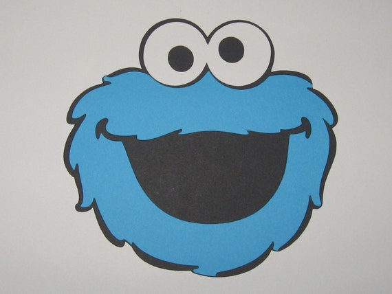 Sesame Street Cookie Monster Inspired Die Cut