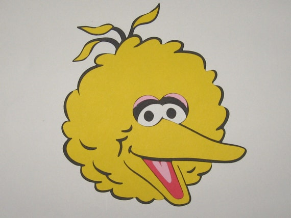 Sesame Street Big Bird Inspired Die Cut