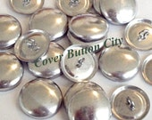 25 Cover Buttons Size 45 (1 1/8 inch) -  Wire Backs