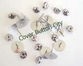 24 Stainless Steel 10mm Earring Posts and Backs - 10.4mm Long