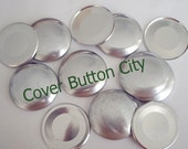 25 Size 60  (1 1/2 inch) Cover Buttons - Flat Backs