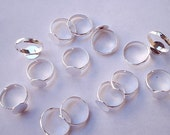 50 Adjustable Rings with Glue Pad  10 mm