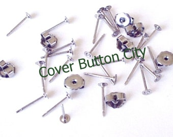 48 Stainless Steel 3mm Earring Posts and Backs - 10.4mm Long