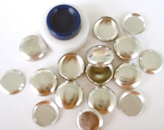 Size 20 (1/2 inch) Cover Button Starter Kit  - FLAT BACKS