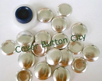 Size 30 (3/4 inch) Covered Button Starter Kit  - Flat Backs