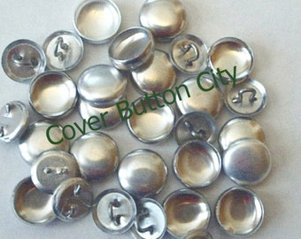 25 Cover Buttons Size 20 (1/2 inch) -  Wire Backs