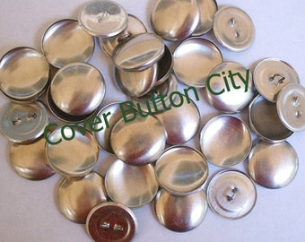 72 Cover Buttons Size 36 (7/8 inch) -  Wire Backs