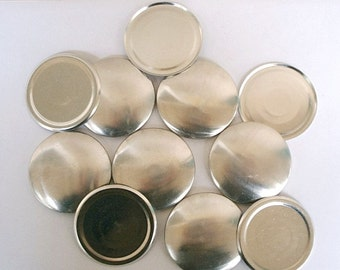 Size 75  (1 7/8 inch) -  100 Cover Buttons  -  FLAT BACKS