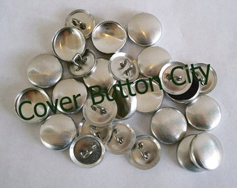 25 Cover Buttons Size 24 (5/8 inch) -  Wire Backs