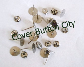 Nickel Free 200 Titanium 8mm Earring Posts and Backs - 11.5mm Long