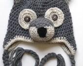 Crochet Wolf Beanie