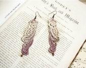 lace earrings -CAITLYN- ombre mauve mist