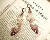 lace earrings -SONYA- ombre mauve mist
