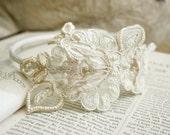 bridal lace headband -MY BELOVED is MINE- (ivory)