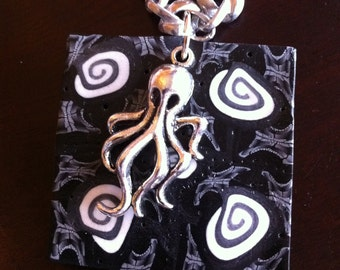 Patterned Octopus Pendant