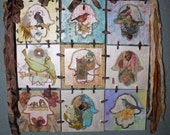 Of The Birds on the Hand of Fatima : Hanging Canvas Collage Spring Quilt