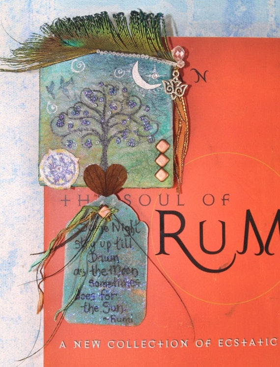 Rumi's Words on Canvas Love Between the Moon and Sun