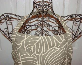 SPECIAL OFFER -Apron - Pewter Leaves