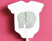 Elephant Cupcake Toppers - Set of 10 - Baby Showers and Birthday Parties