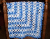 Granny Square Baby Blanket Blues