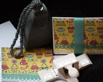 Purses Handcrafted Note Cards - Set of 5