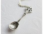 Silver Spoon Necklace