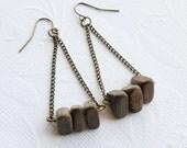 Geometric Wood Earrings
