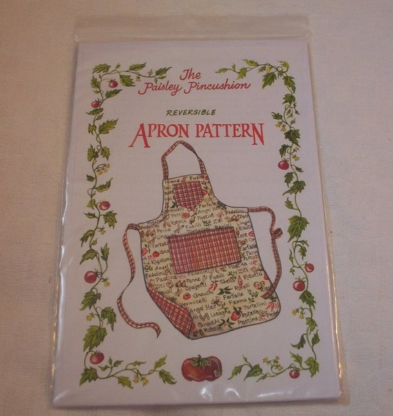 Reversible Apron pattern by The Paisley Pincushion