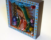SALE 20% off EVERYTHING in store - Virgin Mary beautiful shadow box