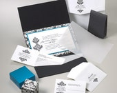 DEPOSIT - Wedding Invitations Suite you can customize with colors, pocket fold, backer card and embellishments