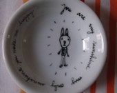 tiny hand painted bowl