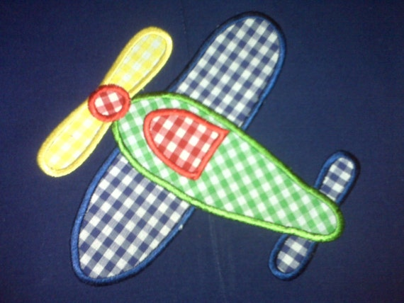 INSTANT DOWNLOAD Airplane applique machine embroidery 4x4 5x7 6x10