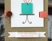 A Very Happy Birthday - handmade birthday card
