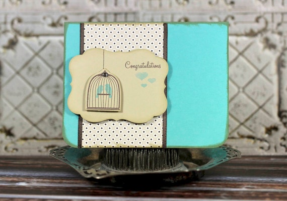 Congratulations - handmade card for Wedding, Anniversary or Engagement