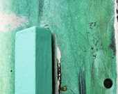 Teal, Green Mint Abstract Photograph